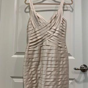 BCBG beige mini dress